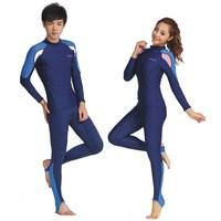 Lycra sun protective apart  wetsuit  thin swimming suit men women diving suit snorkeling clothing 716