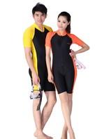 Lycra sun protective short sleev wetsuit  thin swimming suit men women diving suit snorkeling clothing 603