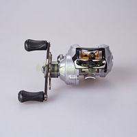 Free Shipping 9+1 BB 6.3:1 Right Hand Baitcasting Fishing Reel Bait Casting Baitcast Reels Silver With Centrifugal Brake System
