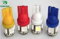 Free Shipping ! 10pcs/lot T10 led lamp 5050 SMD LED W5W 168 194 Car LED Lamp Side Wedge Light  14 months warranty T10-5SMD(5050)