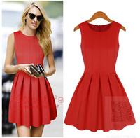 2014 Free shipping New  spring and summer Fashion women's dresses big princess tutu Sleeveless dress women