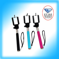 Rotary Extendable Handheld Camera Tripod Mobile phone Monopod+Bluetooth Remote Control Self-timer for i9300 i9500 for Iphone