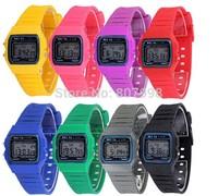 Free ship,Water Resistant  Luminous Led Electronic Jelly  Ultra-thin  Watch Child Student  Woman Watch Chronograph Sports Watch