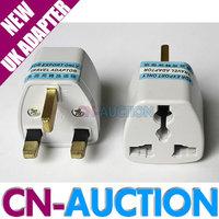 FS! Universal Travel Adapter AU US EU to UK Adapter Converter 3 Pin AC Power Plug Adaptor Connector 100PCS/LOT (CN-PA01)