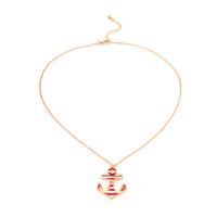 Fashion Europe Style Trendy Anchor Pendant Trendy Unisex Necklaces Wholesale (24 pieces/lot)
