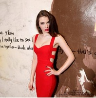 2014 Summer New Sexy Women Bodycon Bandage Dress Vintage Party Evening Club Girl Clothes  black red sexy dress AY850663