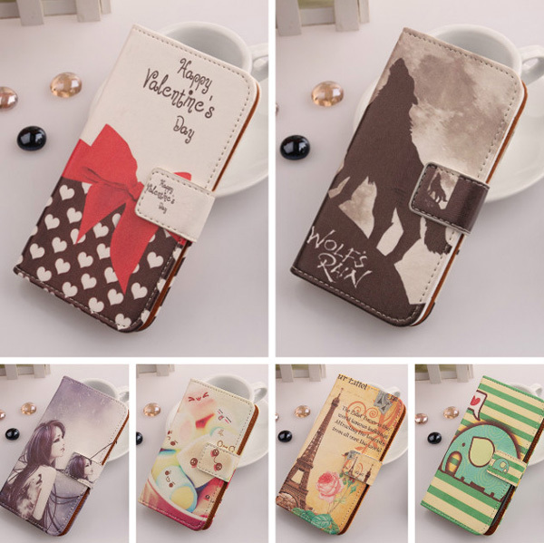 2014 1X New Flip Accessory Specially Design PU Leather Cute Cover Skin Protection Case For LG E460 Optimus L5 II(China (Mainland))