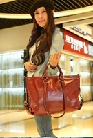 2014 new oil wax leather motorcycle bag handbag shoulder bag Messenger bag women big bag