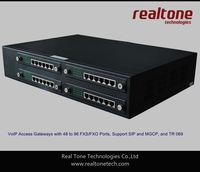 96 FXS ports 96 concurrent calls voip gateway