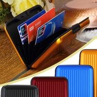 1pcs Waterproof Business ID Credit Card Wallet Holder Aluminum Metal Case Box Brand Free / Drop Shipping