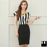 Spring and Summer Women Short-sleeve Slim Elegant OL and Dignified Pencil Dress Plus Size XXXL 4XL 5XL Fashion One-piece Dress