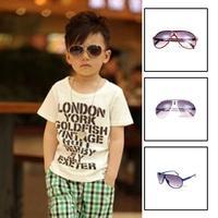 Wholesale 4pcs/Lot 2014 New Fashion Children Sunglasses Boys Girls Kids Baby Child Sun Glasses Goggles Anti UV400 Protection