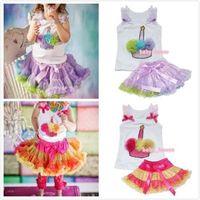 2pcs Baby Girls Top + Tutu Dress Skirt Pettiskirt Birthday Party outfit Costume