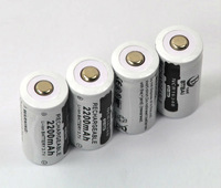 4x 16340 CR123A 3.7V Rechargeable Li-ion LED Torch Laser Pointer Light Battery