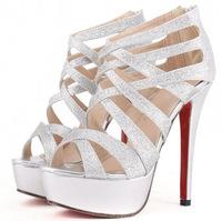 2014 new women shoes high heel sandals 14cm platform sandals wedding shoes free shipping
