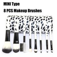 New MINI 8 PCS eyeliner eye shading Pencil Brush Makeup/make up brush Portable cosmetics brushes with Goat Hair and Nylon