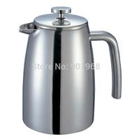 Home restaurant double walls stainless steel 1000ml tea pot water pot milk pot coffee pot