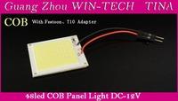 2pcs X 6W COB Chip 48 led LED Car Interior Light T10 Festoon Dome light Adapter 12V Wholesale Car Vehicle LED Panel