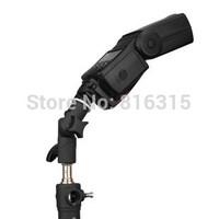 E Bracket Flash Shoe Umbrella Holder Light Stand 1/4  3/8Adjustable Flash Shoe Holder for Camera Flashes LED Light