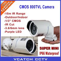 "Vcatch Security 1/3"" CMOS 800TVL IR Cut 15M IR Outdoor Waterproof CCTV Camera With Bracket + Free shipping"
