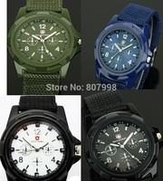 Free ship,Soldier Military Army t Luminous  Quartz Canvas Strap Fabric Watch Men Ourdoor Sport Wristwatch Male Clock