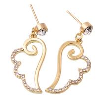 Fashion Zinc Alloy Angel Wings Earrings For Women
