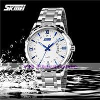 New SKMei genuine men noctilucent / week / calendar watch steel watch waterproof watch with exquisite Commerce Free shipping