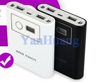 LCD Accurate power 30000mAh Mobile Phone Power Bank Universal Backup External Battery Pack 2 USB output can print LOGO