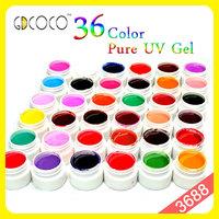 Gel uv nail 36 colors gdcoco ezflow nail gel  #3688W