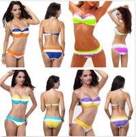 On Sale ! 2014 New Women Bikini Push Up Top&Bottom Swimsuit Swimwear Beachwear