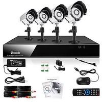 ZMODO 4 Outdoor 600TVL IR CCTV Home Video Surveillance Security Camera DVR System