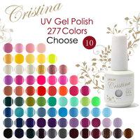 10 pcs Cristina UV Gel Nail Polish Professional Shellac,Temperature Change,Luminous Color 277 Colors 15ml 0.5oz drop shipping