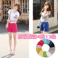 2014 Spring Summer fashion New Women's Slim wild casual fashion solid color shorts female Short pants