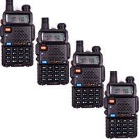 Free Shipping!4XPofung UV-5R 136-174/400-479.995MHz Dual-Band DTMF CTCSS DCS FM Ham 2way Radio