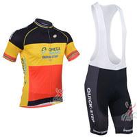 2013 Quick Step Belgium Cycling Jersey / Cycling Shorts / High Quality Cycling Clothing Set Size:S-XXXL Free Shipping