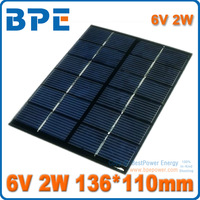 Free Shipping 6V 2W Mini Polycrystalline solar Panel small solar cell PV module for DIY solar Kits