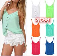 new 2014 summer tops for women blouses ladies blouses femininas plus size xxxl women clothing shirt women chiffon sheer blouse