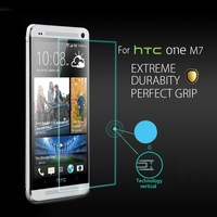 HD Anti shatter Clear Premium Tempered Glass Screen Protector Protective Film Guard For HTC One M7  With Retail Package 1pcs/lot