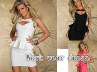 vestido informal black milk Women sexy nightclub dress 2014 Lotus leaf lace Ladies waist cincher bodycon dresses plus size M-XXL