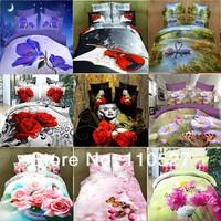 Bedding set 4pc modern bedclothes king queen 3D bedding set luxury duvet cover set