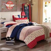 100% cotton bedding set star moon pattern 4pcs bedding sheet Kiss baby bed set duvet cover bed sheet pillow cases bedspread home