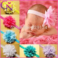 12 colors New Style, Beautiful Chiffon Flower Headband Girl Baby Hair Band Children Accessories 30 pcs/lot CHEHB-1405211
