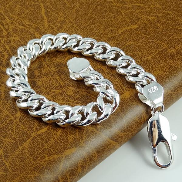 Sale Fashion men jewelry Link Chain silver Bracelet Men 925 Silver bracelets bangles BG108 free shipping