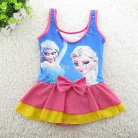 Retail Girls Baby Cartoon frozen Swimwear Toddler Swimsuit One-piece Tankini Bathing Bather Beachwear