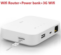 Free shipping Euro quality 5200mAh Power bank + Portable Wifi Router + 3G/4G Wifi router+NFC Function
