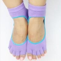 20pairs/lots The new summer fashion cotton antibacterial gel instep fingers slip yoga socks toe socks