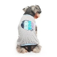 Loving pastoral T-shirt dog clothes dog clothes, pet clothing summer mosquito ultra-thin breathable vest QT