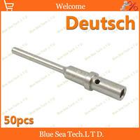50pcs Male Deutsch Crimp terminal for Car,car engine terminals for VW Audi BMW,20 AWG,Max:7.5A
