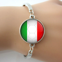 Italy football team Badge Bangle World Cup Brazil 2014 top quality channel bangles bracelets alloy nickel free bangles 5 pcs New