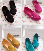 Leisure shoes women's shoes with flat shoes matte size shoes peas